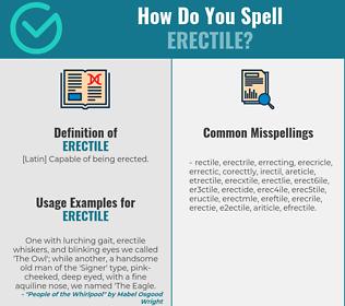 Correct spelling for erectile