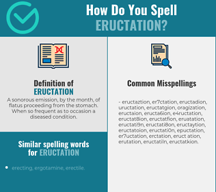 Correct spelling for eructation