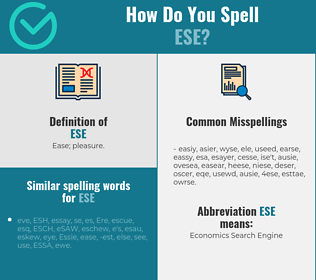 Correct spelling for ese