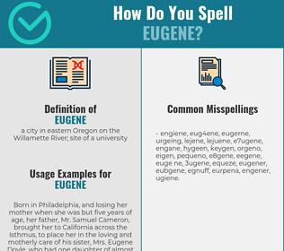 Correct spelling for eugene