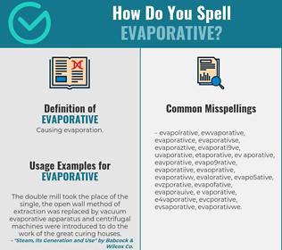 Correct spelling for evaporative