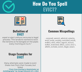 Correct spelling for evict