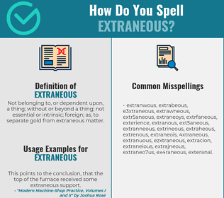 Correct spelling for extraneous