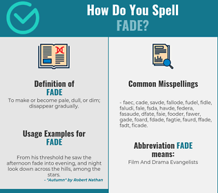 Correct spelling for fade