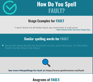 Correct spelling for fault