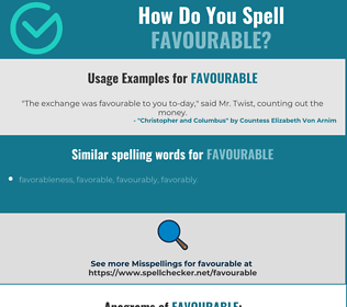 Correct spelling for favourable