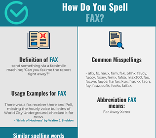 Correct spelling for fax
