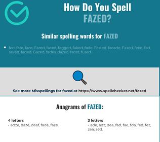 Correct spelling for fazed