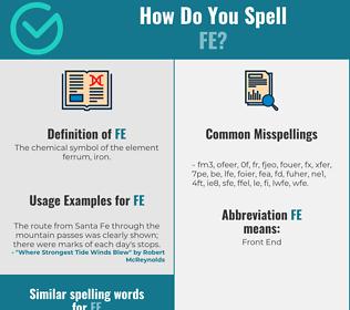 Correct spelling for fe