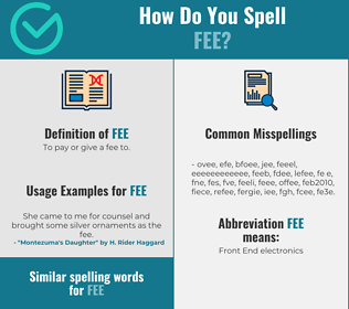 Correct spelling for fee