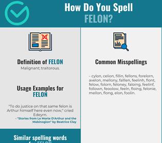 Correct spelling for felon