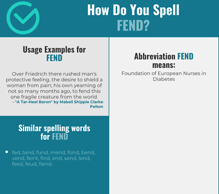 Correct spelling for fend