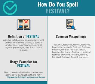 Correct spelling for festival