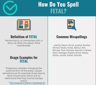 Correct spelling for fetal