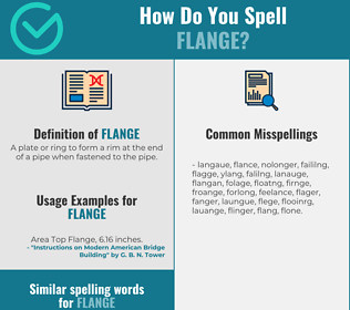 Correct spelling for flange