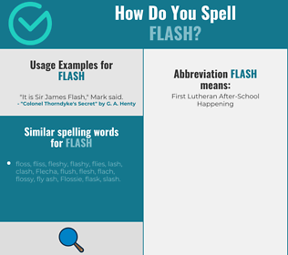 Correct spelling for flash