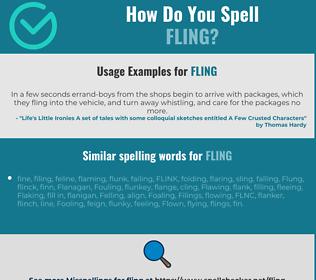 Correct spelling for fling