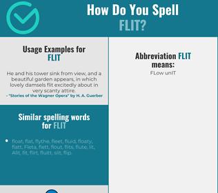 Correct spelling for flit
