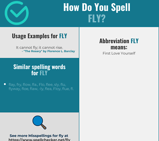 Correct spelling for fly