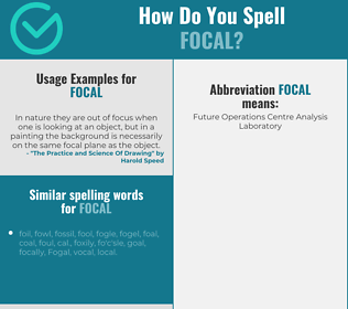 Correct spelling for focal