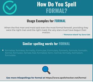 Correct spelling for formal