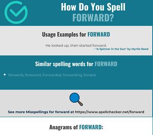 Correct spelling for forward