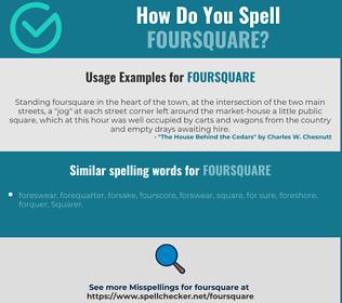 Correct spelling for foursquare