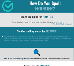 Correct spelling for frontier