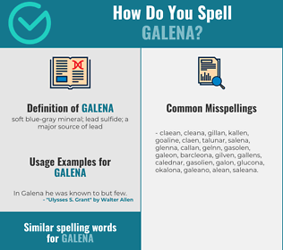 Correct spelling for galena