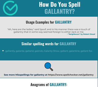 Correct spelling for gallantry