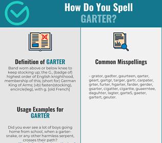 Correct spelling for garter
