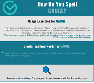 Correct spelling for gauge