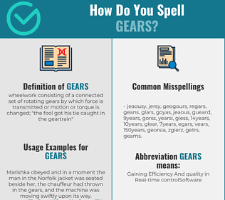 Correct spelling for gears