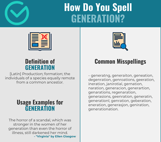 Correct spelling for generation