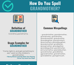 Correct spelling for grandmother