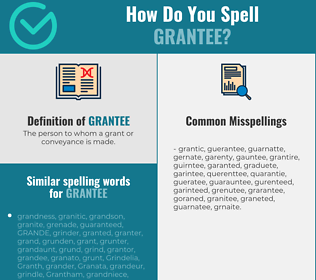 Correct spelling for grantee