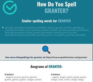 Correct spelling for granter