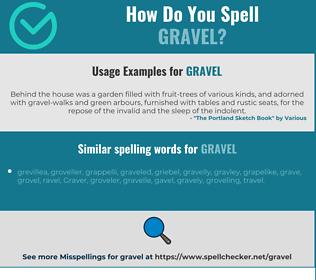 Correct spelling for gravel
