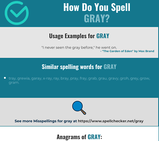 Correct spelling for gray