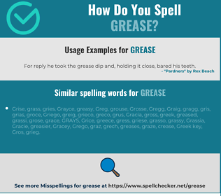 Correct spelling for grease