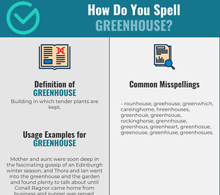 Correct spelling for greenhouse