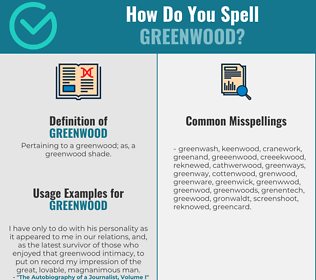 Correct spelling for greenwood