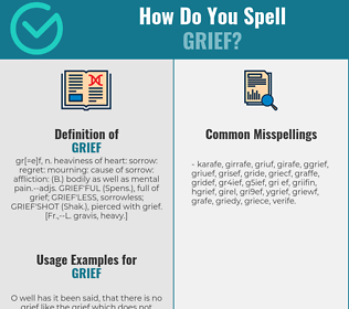 Correct spelling for grief