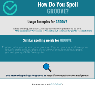 Correct spelling for groove