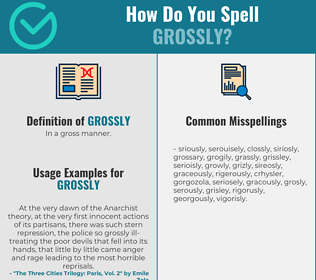 Correct spelling for grossly