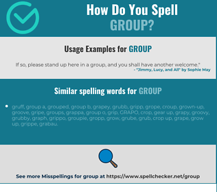 Correct spelling for group