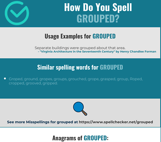 Correct spelling for grouped