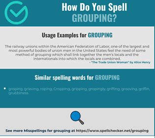 Correct spelling for grouping