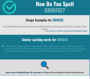 Correct spelling for grouse