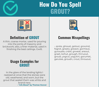 Correct spelling for grout